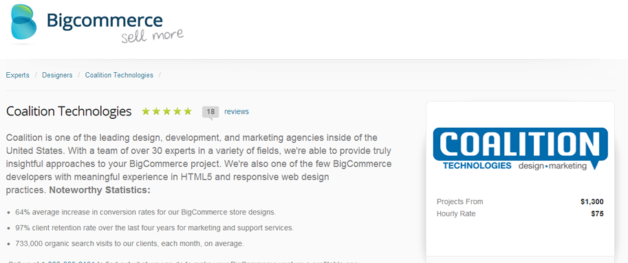 Coalition Technologies BigCommerce Partner Page