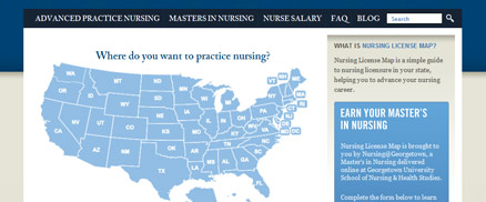 Nursing License Map Image
