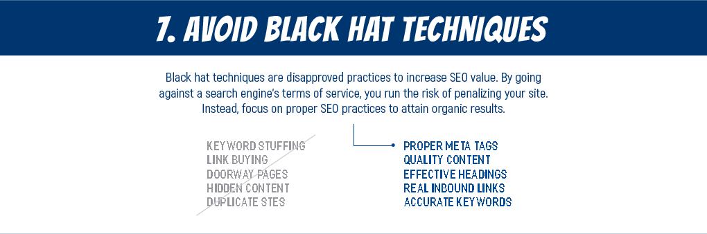 Essential SEO Tips 07 - No black hat