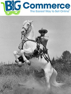 BigCommerce (played by the lone ranger) saves the day