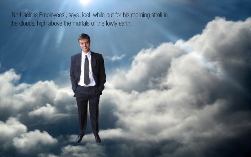 SEO company founder Joel strolls in the clouds.