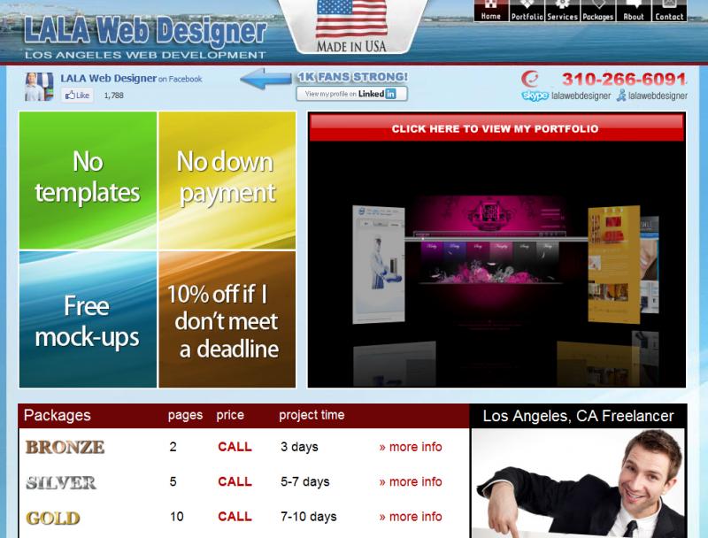 Dangerous promises from an LA web designer