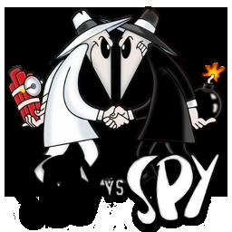 Spy vs. Spy is a good image of the black vs. white idea.