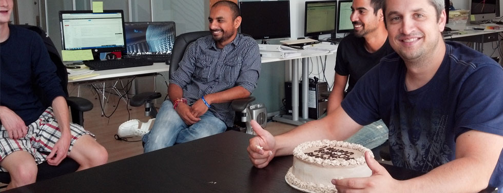 Picture of LA SEO manager's birthday in office