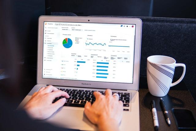 a computer screen showing a website's customer metrics