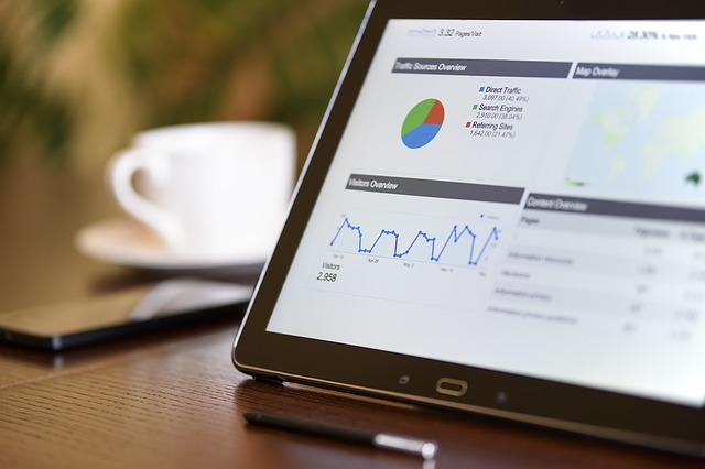 computer showing Google Analytics