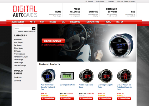 Digital Auto Gauges