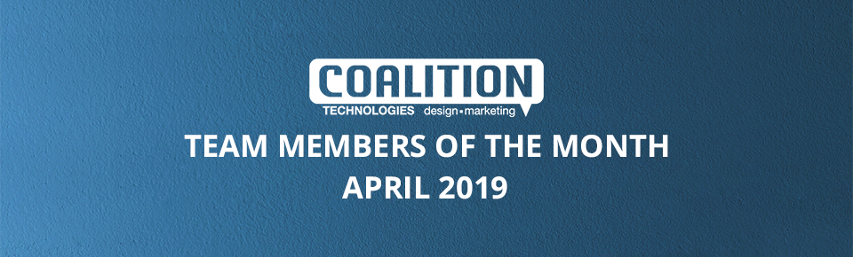 Employees of the month - April 2019