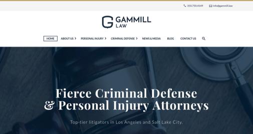 Gammill Law website screenshot