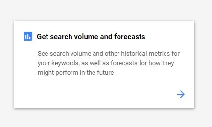 Get search volume and forecast