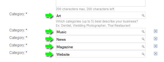Google Places Pages Category Description