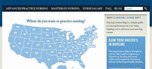 Nursing License Map