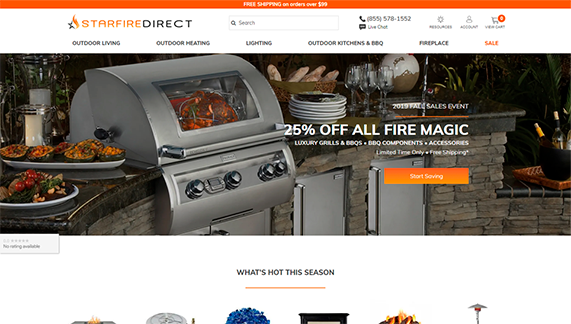 a screenshot of Starfire Direct's home page