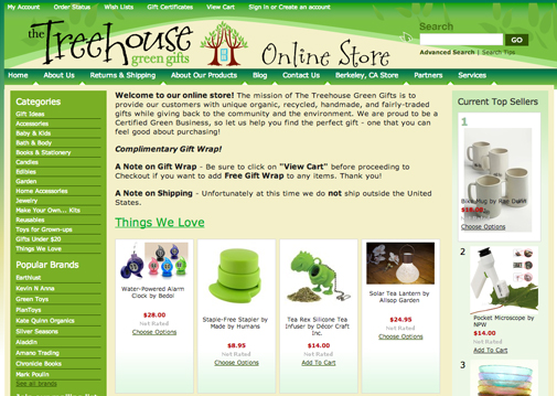 Treehouse Green Gifts