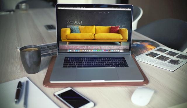 minimalist website product page