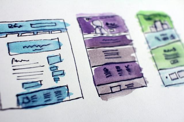 hand drawn website design