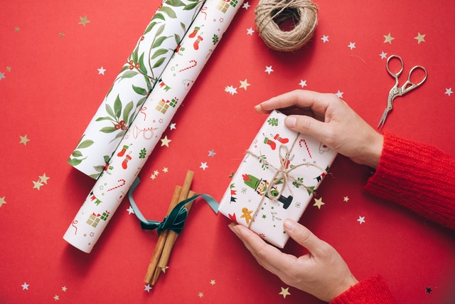 Wrapping paper and present
